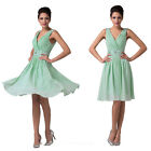 Pretty Girls V-Neck Sexy Short Bridesmaids Party Evening Prom Cocktail Dresses