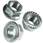 M3 M4 M5 M6 M8 M10 M12 FLANGED NUTS STAINLESS STEEL HEX FLANGE NUT SERRATED A2