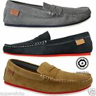 Lacoste Mens Chanler Slip On Moccasin Suede Leather Causal Loafers Driving Shoes