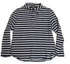 Double Ralph Lauren RRL Mens Navy Striped Shawl Collar Button Sweater Jacket XL