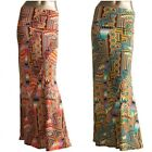 *AZULES* Women's artsy modern printed folded waist long maxi skirt S,M,L,XL