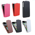 Luxury Genuine Real Leather Flip Protective Case Cover for iPhone 4 4s HOT