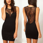 Women Sexy Fashion Lace Flower Wrap Slim Dress Bandage Bodycon Cocktail Party