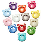14mm Bear Head Face Buttons Cartoon Sewing Cardmaking DIY Craft Plastic 13 Color