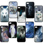 Animal Wolf Roar Hard Plastic Snap On Back Skin Case Cover For Apple iPhone 5/5S