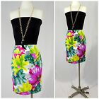 KELLY & DIANE LADIE'S FAUX WRAP FRONT SILK LOOK FLORAL STRETCH SKIRT $118 ORIG.