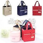 Portable Thermal Insulated Lace Dots Lunch Box Picnic Storage Handbag Tote pouch