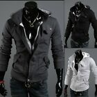 New Mens Casual Zip Up Coat Hoodies Jacket Hoody Outerwear Top Sweater SizeXS-XL