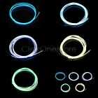 Flash Flexible Neon Light Glow El Strip Tube Wire Party Light Kit + Battery Case