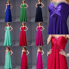 Stunning Ladies Long Strapless Sequins Formal Evening Party Gown Prom Maxi Dress