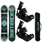 TOP! AIRTRACKS SNOWBOARD SET: FORM WIDE+BINDUNG RAGE FASTEC 180+SB BAG+PAD! NEU!