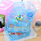 1PC 3 Layers 18 Grids Makeup Cosmetic Plastic Storage Box Case Holder Organizer