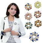 Seven Colors Fashion Ladies Women Crystal Alloy Redbud Flower Bouquet Brooch Pin