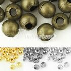 20g Approx 150/60pcs 4/6mm Round DIY Spacer Crimps End Beads Jewellery Findings