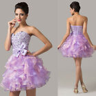 Beaded Bridesmaid Ball Prom Cocktail Celebrity Party Evening TUTU Dancing Dress