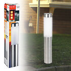 Solar Powered Stainless Steel LED Light Lamp Garden Post Driveway Lighting New
