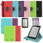 360 Rotating/Stand Leather Case Cover for BARNES & NOBLE Nook HD 7 Inch+Film/Pen