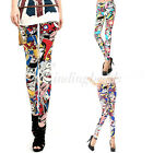 Fashion Women's Cartoon Graffiti Doodle Printing Sexy Leggings S/M/L/XL