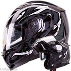 The Viper (BK) IV2 Modular Dual Visor Motorcycle/Snowmobile Flip Up Helmet DOT