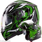 The Viper (GRN) IV2 Modular Dual Visor Motorcycle/Snowmobile Flip Up Helmet DOT
