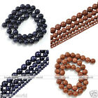 1 Strand Golden/Blue Sand Gemstone Loose Round Bead For Jewelry DIY 2/4/6/8/10mm