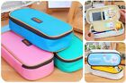 New Student's Canvas Pen Bag Pencil Case Cosmetic Bags Travel Makeup Bags Free