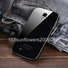 For Samsung Galaxy S4 i9500 Acrylic Back with Metal Bumper Frame Hard Cover Case