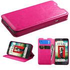 For LG Optimus L70 Premium Wallet Case Pouch Flap STAND Cover + Screen Protector