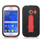 Straight Talk Samsung Galaxy ACE IMPACT Hard Rubber Case Phone Cover Kickstand