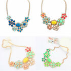 Korean Style Sweet Flowers Shaped Pendant Rhinestone & Resin Necklace For Party