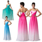 Sexy Long Evening Prom Formal Wedding Homecoming Gown Bridesmaid Dress Bright 1p