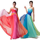 TOP GRADE New Celebrity Long Evening Cocktail Prom Bridesmaid Dresses Blue/Red