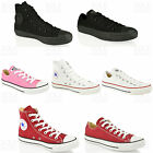 WOMENS MENS UNISEX CONVERSE WHITE BLACK HI TOP LOW OX CASUAL TRAINERS SHOES SIZE