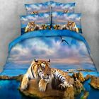 Tiger Print Double/Queen/King Size Quilt/Doona/Duvet Cover Sett New 100% Cotton