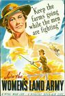 Vintage World War 2 Womens Land Army Poster A3/A2/A1 Print