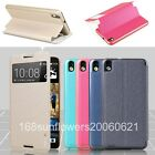 For HTC Desire 816 BEPAK Slim Stand Window View Flip PU Leather Cover Skin Case