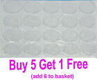 10 x Round Oval or Square Clear Epoxy Resin Clear Self Adhesive Cabochon Sticker