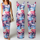 NEW Ladies Maxi Dress Summer Holiday Bodycon Long Skirt  Evening Cocktail Party