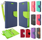 Kyocera Hydro Life C6530 Leather 2 Tone Wallet Pouch Flip Cover + Screen Guard