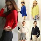 Fashion Women Chiffon OL Shirt  Long Sleeve Button Down Lapel Casual Blouse Tops