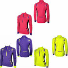 More Mile Womens Ladies Thermal Long Sleeve High Viz Running Cycling Top