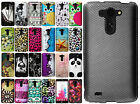 For LG G Vista Rubberized HARD Protector Case Snap On Phone Cover +Screen Guard