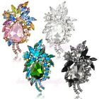 Flowers Colors Crystal Brooch Pin Wedding Engagement Jewelry x155-x158