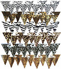 10FT Animal Print Bunting Single Sided Birthday Party, Garland, Flag Decoration