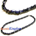 MEN'S MAGNETIC HEMATITE BONE SHAPED BEAD NECKLACE