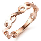 Fashion Rose Gold Plated Stainless Steel Girls/Women Ring decorative pattern