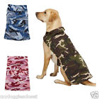 Dog Barn Coat - Pink Blue or Green Camo 2 Straps Repels wind water CLEARANCE