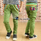 Autumn/Spring Toddlers Boys Baby Child kids Candy Rainbow Pants Trousers 3-8Y