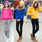 Women 2014 Warm Thick Zipper Faux Fur Hoodie Hooded Parka Coat Jacket Outerwear