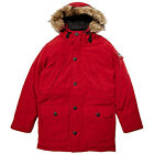PENFIELD HOOSAC HOODED MOUNTAIN PARKER RED FAUX FUR COLLAR